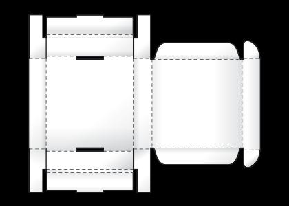 Телефонная (самосборная) коробка